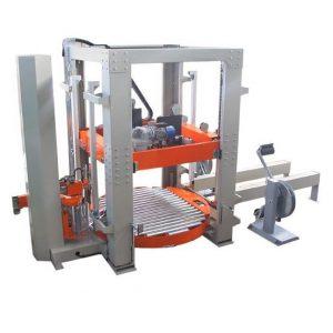 AVFP2- מכונת קשירה ורטיקלית משולבת עם מכונת עטיפה.